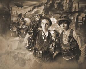 22 - Most Creative Portrait - Digitally Enhanced ~ Faye Stryk & Rachael Zuleger, Professor Bellows Photos MOA