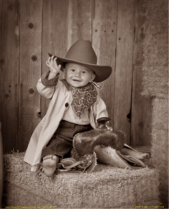 3 - Best Portrait of a Baby ~ Ella Jo & Todd Corneil, Todd's Old Time Photo